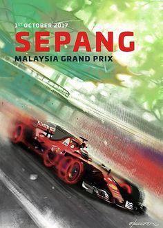 Scuderia Ferrari cover art by Fabrizio De Tommaso for Malaysian Grand Prix