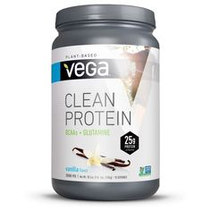 Vega Clean Protein Vanilla Protein Powder is formulated with a premium protein blend made from pea, hemp, alfalfa and pumpkin. Whether you shake or blend it, this plant-based protein powder helps you build and repair muscles post-workout. Gluten Free Protein Powder, Vegan Protein Powder, Chocolate Protein Powder, Vanilla Protein Powder, Healthiest Protein Powder, Plant Based Protein Powder, Protein Drink Mix, Protein Blend, Vegan Keto Recipes
