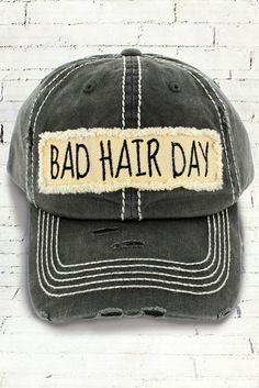 27311737a3ec05 Bad Hair Day Faded Black Vintage Distressed Trendy Trucker Hat #Unbranded # Trucker #Summertime