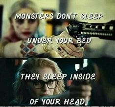 23 Joker quotes that will make you love him more Monsters dont sleeps Harley Quinn Quote Mood Quotes, Girl Quotes, True Quotes, Best Quotes, Funny Quotes, Qoutes, Harly Quinn Quotes, Dc Memes, Joker Quotes