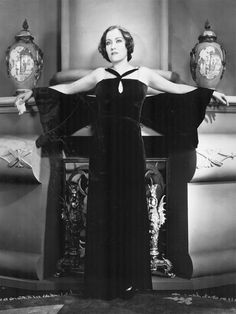 """1931 – Gloria Swanson wearing Chanel in the film """"Tonight or Never"""""""