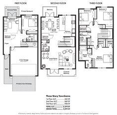 townhouse floor plans | story townhouse floor plans Car Pictures                                                                                                                                                                                 More