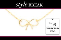 Weekend Style Break - Get the Bailey Necklace Jewelry Box, Jewelry Accessories, Fashion Accessories, Jewelry Design, Unique Jewelry, Before Midnight, Weekend Style, Cool Items, Online Boutiques
