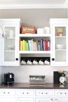 Cookbooks in a Gorgeous Kitchen via Domaine
