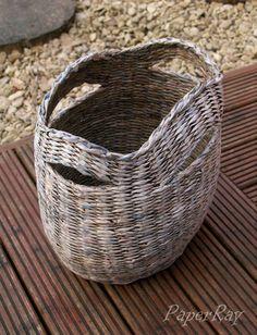 °(ッ)/°, ♡ ❀ ☺♥☺.♥ █▄ϑ❤Ҽ ♥ ☺♥☺.♥paper wicker basket by PaperRay