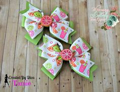Pink Lime Lemonade Pig tail hair bows https://www.facebook.com/media/set/?set=a.897934796912431.1073741887.664051576967422&type=3