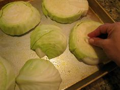 Martha Stewart Roasted Cabbage Steaks. Garlic Rubbed Roasted Cabbage Steaks.