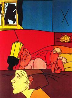 VALERIO ADAMI. La muerte de Orfeo. 1990.