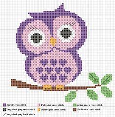 free owl cross stitch patterns | Owl Cross Stitch Pattern