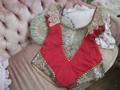RARE Antique Vintage Circus Costume Romper Outfit by BellaBordello