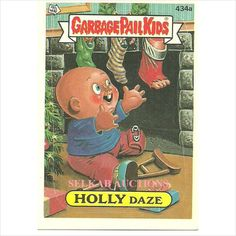 Garbage Pail Kids # 434a Holly Daze Trading Card 1987 Topps Chewing Gum on eBid Canada $3.00