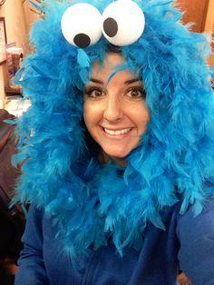 DIY Cookie Monster Halloween costume  sesamestreet  halloween  costumeHomemade Cookie Monster Halloween Costume