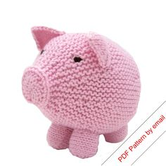 Knitting Pattern Toy Pig PDF Knit Your Own Hog by NattyKnits, $3.00