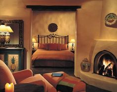 santa fe decorated bedroom - Google Search