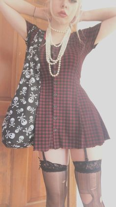 Cute Casual Outfits, Pretty Outfits, Girl Outfits, Fashion Outfits, Grunge Dress, Grunge Outfits, Aesthetic Clothes, Cute Dresses, Girl Fashion
