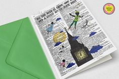 Peter Pan Pixie dust Greeting Card Peter Pan by naturapicta