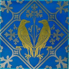 Silver Painted and Gilded Tile for Minton, ca. 1875