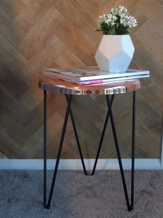 Copper and black stool/side table – Interiors Addict Shop