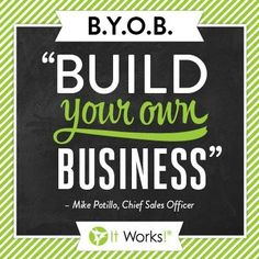 Be your own boss, set your own hours, never miss your kids games,school plays or events ever again! Join my team today! Team work makes the dream work! Https://ninamcgrath.myitworks.com