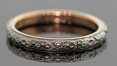 Antique Wedding Band-18k white and yellow gold via Etsy.