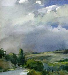 Stan Miller, watercolor Heavenly Watercolors | Paint Watercolor Create http://paintwatercolorcreate.blogspot.com/2013/05/heavenly-watercolors.html