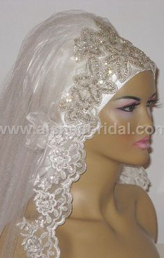 Ready To Wear Bridal Hijab Code HGT354 by aishasbridal on Etsy, $125.59