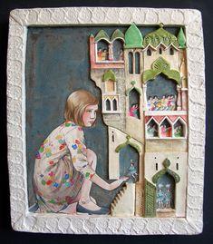 amanda michelle smith low relief tiles. narrative? mythology? self portrait?