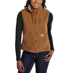 Carhartt Sandstone Mock Neck Vest Carhartt Brown Women S