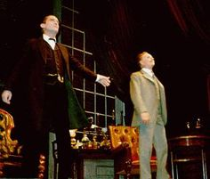"Still from Jeremy Paul's ""The Secret of Sherlock Holmes"" West End stage production with Jeremy Brett and Edward Hardwicke, 1989"