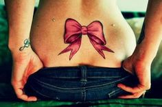 bow tattoo... I love this including the dermals