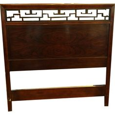 Two Baker Chinese Chippendale Twin Headboards
