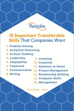 """Transferable skills are exactly what they sound like: the skills that you use in every job, no matter the title or the field. Some transferable skills are """"hard,"""" like coding or data analysis, and some are """"soft,"""" skills like communication and relationship building. No matter what you learned in school or at a previous job, transferable skills are what every worker gains from each career experience, including volunteering, internships, freelance jobs, and more. #Skills #ResumeSkills #Career Resume Skills, Job Resume, Resume Tips, Job Interview Questions, Job Interview Tips, Self Employed Jobs, Computer Jobs, Relationship Building, Business Motivation"""