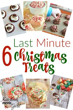 6 Last Minute Christmas Treats | Are you pressed for time, but want to add something fun to your holiday table? Snag the ingredients for one or 2 of theses quick last minute treats and you're good to go! | Kitchen Meets Girl