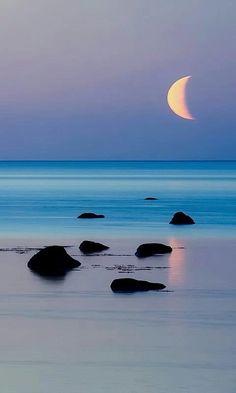 Moonlight ... serene shore  Adventure   #MichaelLouis - www.MichaelLouis.com