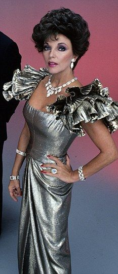 After returning to the theater for several years in the 1970's, Joan Collins landed the role of Alexis Carrington Colby in the 1980s television soap opera Dynasty.