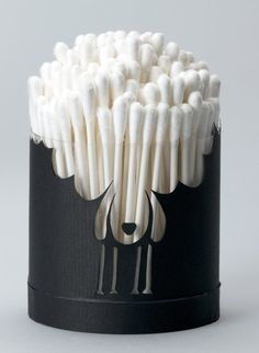 Sheepie container for cotton buds