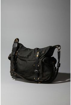 Reasonably priced washed canvas and leather trimmed messenger bag from Urban Outfitters. $68