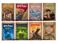 PRINTABLE 8 Harry Potter Bookcovers scrapbook by croppinrobin72