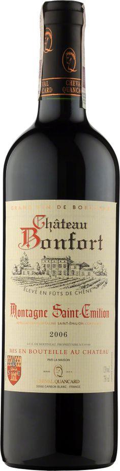 Chateau Bonfort Montagne Saint-Emilion A. Saint Emilion, Cabernet Sauvignon, Bordeaux, Red Wine, Alcoholic Drinks, Bottle, Glass, Alcoholic Beverages, Drinkware