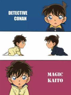 OHHH my gosh I've seen Shinichi as a baby but not KAITOU!! <3 <3 <3