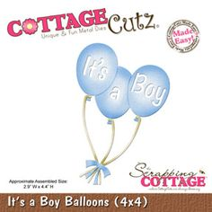 CottageCutz It's a Boy Balloons (4x4)
