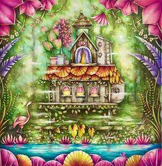 WEBSTA @ cherrycolours - Miss this book much...#magicaljungle #johannabasford #prismacolor #triplusfineliner