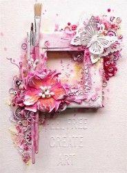 Mixed media canvas - Ingrid Gooyer via Marjie Kemper's Tuesday's Texture Blog…