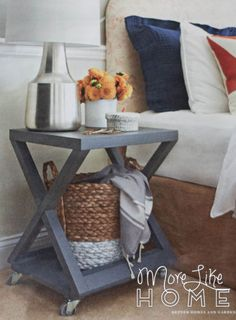 18 days of nightstand builds WITH free plans!!! lots of good building on this blog!!! More Like Home