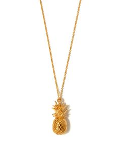 Love this dinky gold plated pineapple necklace by Alex Monroe
