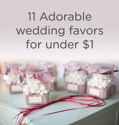 24 wedding favor ideas that dont suck guest wedding favours 11 adorable wedding favors for under a dollar junglespirit Gallery