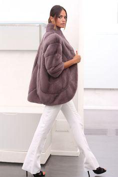 Gem Dyed Mink Fur Jacket