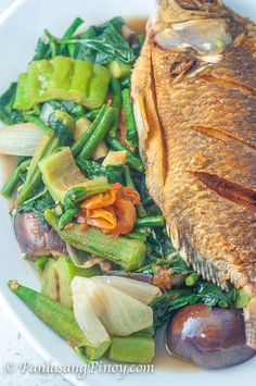 Inabraw Recipe (Boiled Vegetables with Fried Fish in Anchovy Sauce)