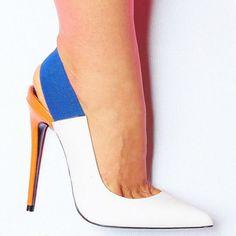 Lust For Life Multi Color Slingback Heels Kolor