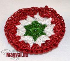 Kokárda, az 1848-49-es forradalom és szabadságharc jelképe - Magyal.hu -  horgolt kokárda - nyomtatható minta - Március 15. Chrochet, Knit Crochet, Crochet Patterns, Beanie, Diy Crafts, Knitting, Holiday Decor, Hats, Blog